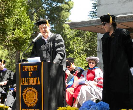 Doctoral student speakers Dan Perkel and Megan Finn