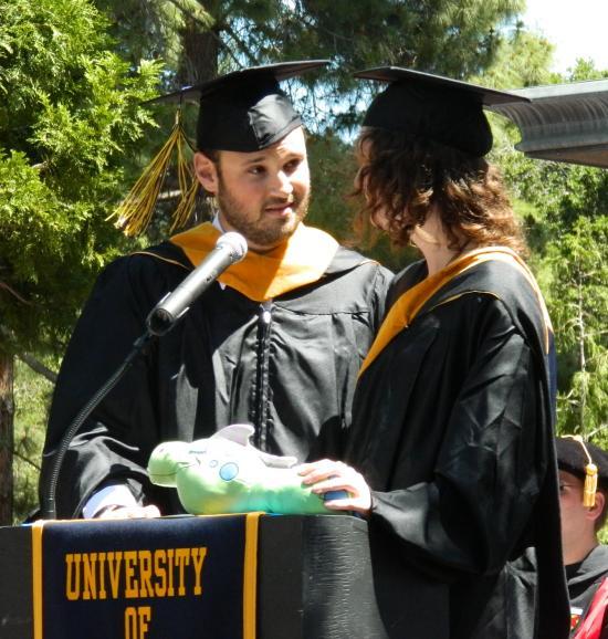 Master's student speakers Paul Goodman and Monica Rosenberg