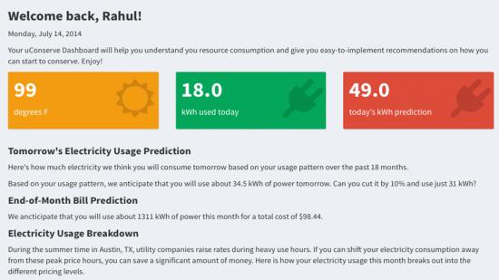 uConserve Forecasting