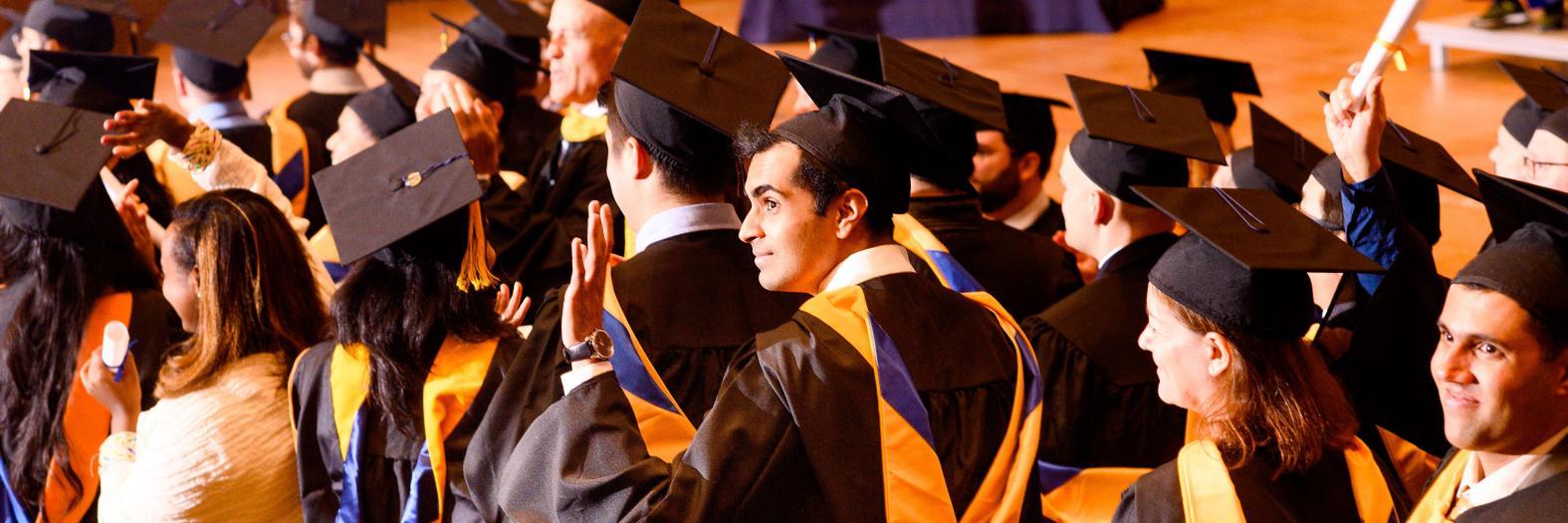 I School graduates at Hertz Hall