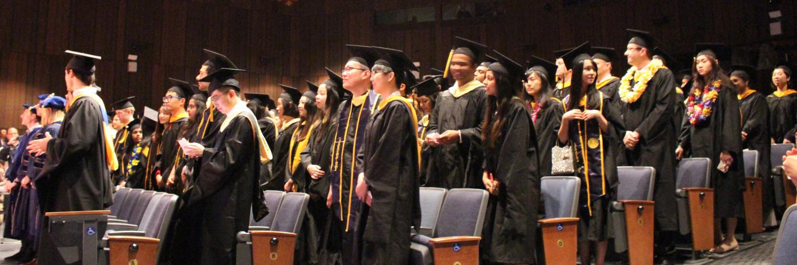 Graduates in the audience at Wheeler