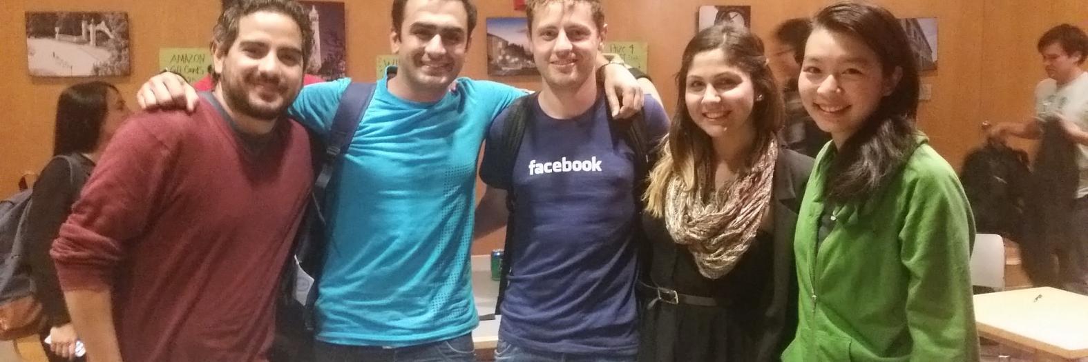 Pablo Arvizu, Ramit Malhorta, Timothy Meyers, Arezu Aghaseyedjavadi, Shana Hu (left to right)