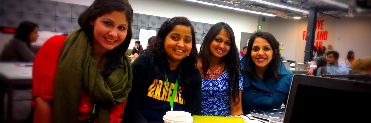 Arezu Aghaseyedjavadi, Ruchita Rathi, Ankita Bhosle, and Sufia Siddiqui (l to r).