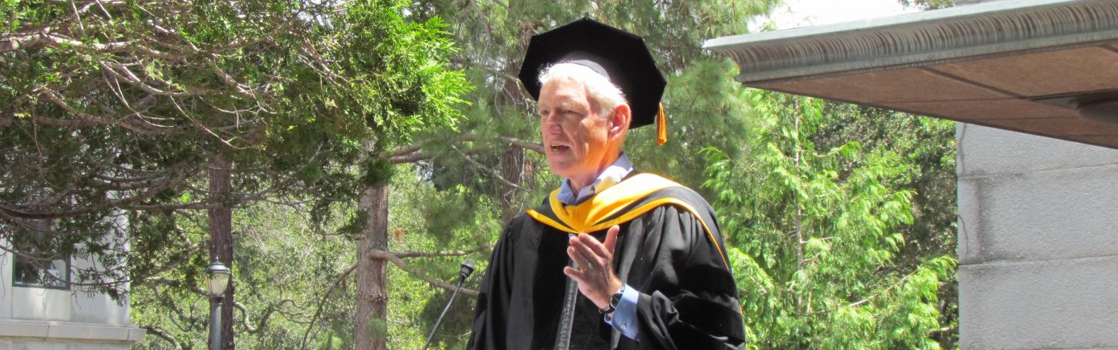 The 2016 commencement keynote speaker was Peter Norvig, Google's director of research