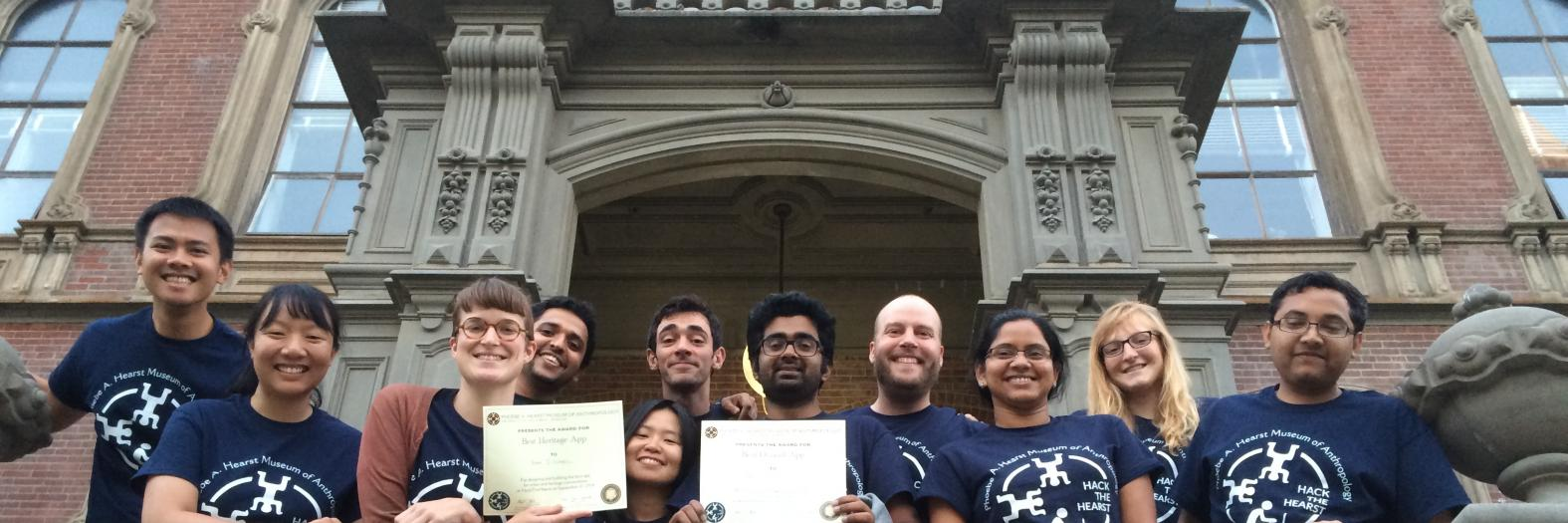 The I School team won the HackTheHearst Hackathon Grand Prize.