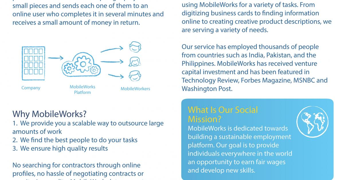 MobileWorks: Designing a Crowdsourcing Platform That Works ...