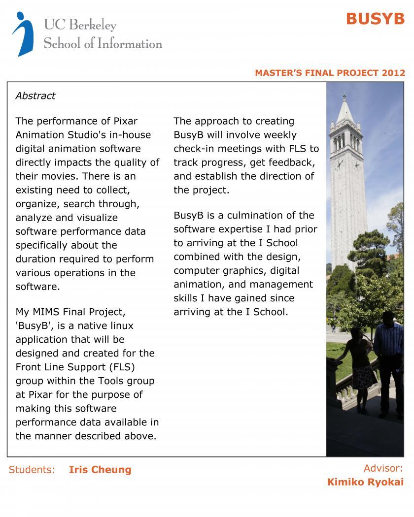 BusyB   UC Berkeley School of Information