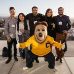 MICS students with Oski at Immersion in April 2019