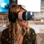 Woman Using a Samsung VR Headset at SXSW. Photo courtesy of  Nan Palmero https://flic.kr/p/qJPZEL (CC BY 2.0)