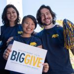 I School students rally for Big Give. (Taken in February 2020)
