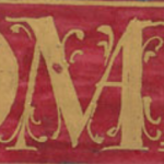 Detail of Robbins MS 1, f.46r, a charter issued by King Philip III of Spain in 1599.