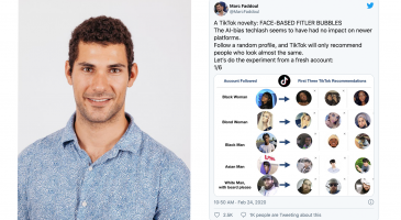 Marc Faddoul and a tweet about his TikTok research