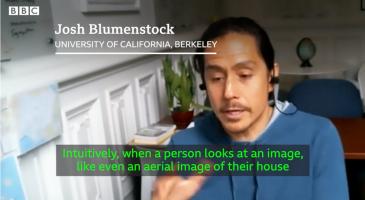 screenshot showing Josh Blumenstock in the People Fixing the World film