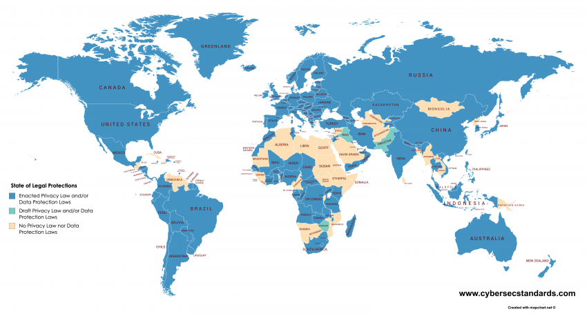 Cybersec Standards - State of Legal Protections Around the World