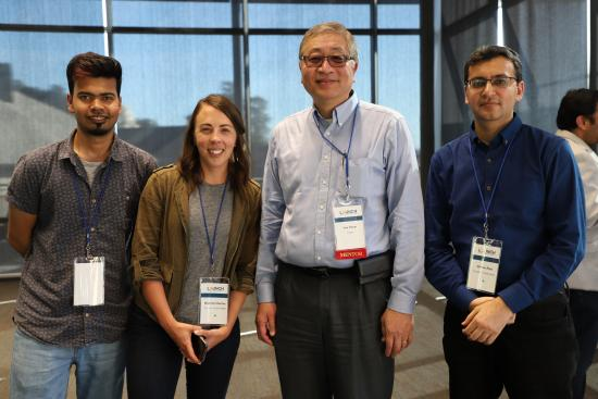 Sandeep, Shannon and Usman with their LAUNCH mentor Dr. Yan Chow