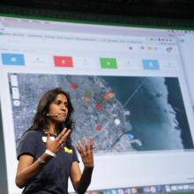 MIMS Students Present Disaster Relief App at TechCrunch Disrupt Hackathon