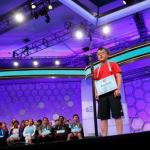 Jayden Lee from San Ramon, California, takes his turn at the Scripps National Spelling Bee at National Harbor in Maryland, U.S. May 29, 2018. REUTERS/Kevin Lamarque