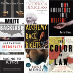 collage of anti-racist books