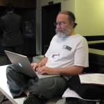 "Howard Besser<br />(photo by <a href=""http://flic.kr/p/4BtMDN"">Rick Prelinger</a>)"
