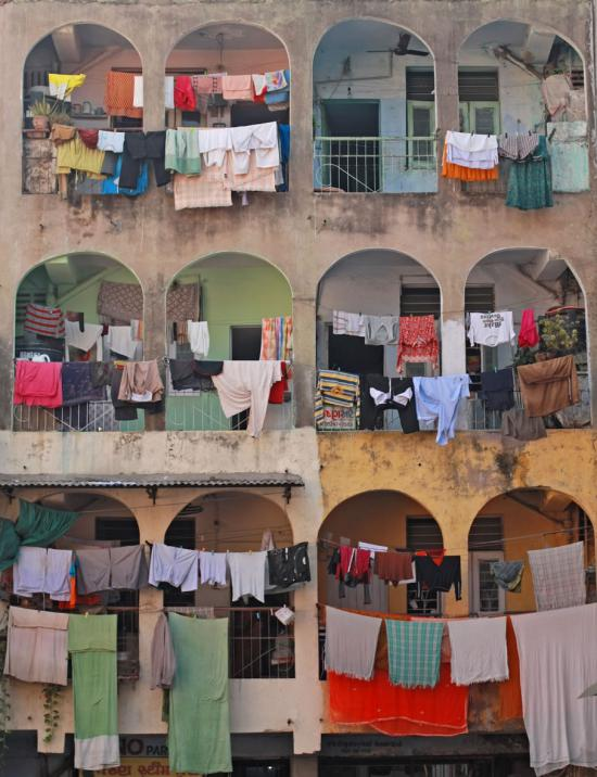 Laundry is a common job for household domestic workers — especially in homes without a washer or dryer.