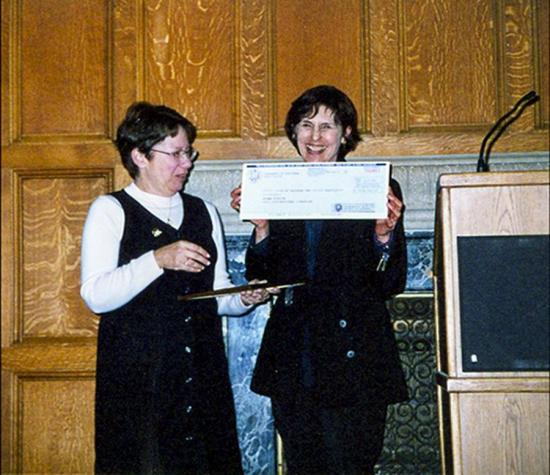Norma Kobzina received UC Berkeley's Distinguished Librarian Award in 2001.