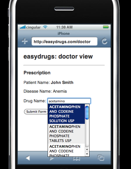 Student Project: Easydrugs