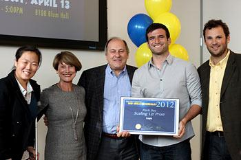 "The Acopio team is awarded the Big Ideas ""Scaling Up"" Grand Prize by contest sponsors Virginia and Andrew Rudd."