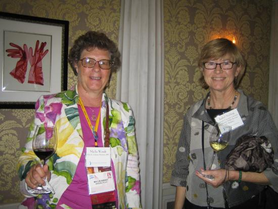Alumna Ma'lis Wendt with Isabel Stirling, UC Berkeley Associate University Librarian and Director of Public Services