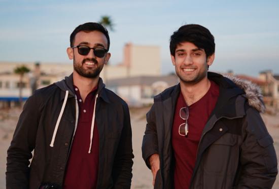 Haroon (left) and Hamza Choudery.