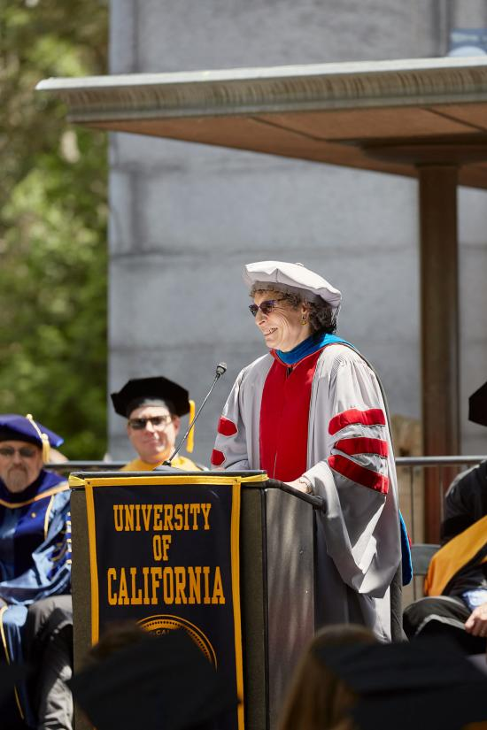 Anno Saxenian at commencement