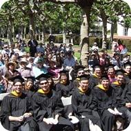 The commencement crowd, as seen from the podium. (photo: Joe Hall)