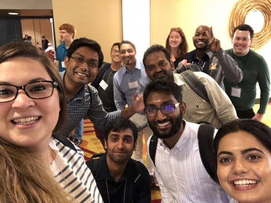 Christina Papadimitriou with fellow MIDS students at Immersion in August 2018; Pictured: large group selfie