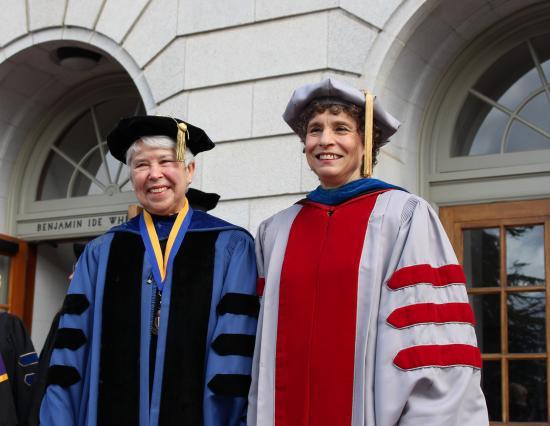 Chancellor Christ and Dean Saxenian