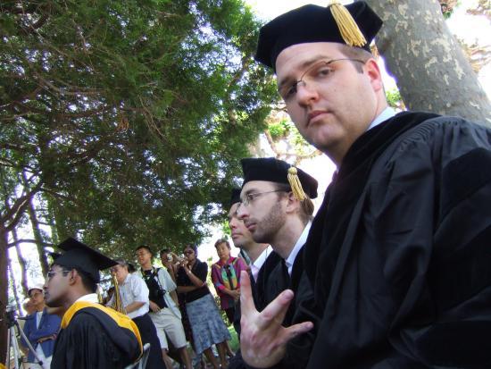 Joe Hall at his I School graduation in 2008 (Joe Hall)