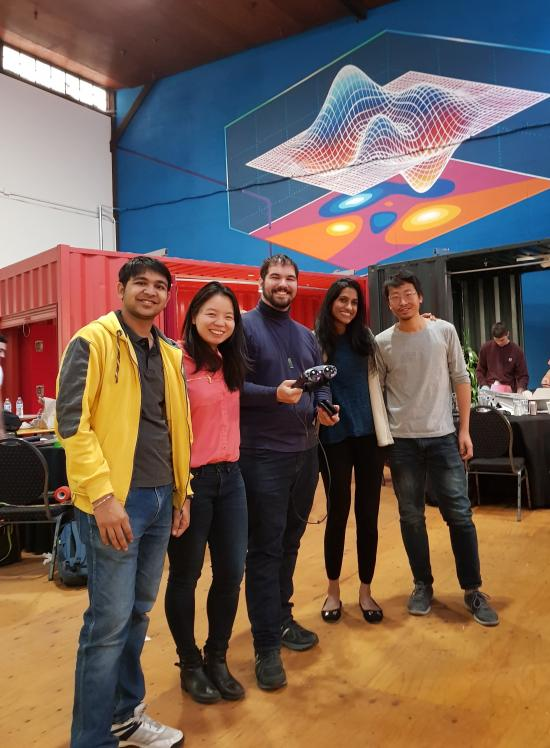 Ankit with MagicLeap team