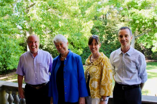Weber with Tim Mather, Chancellor Carol Christ, and Ann Cleaveland at an event in 2019