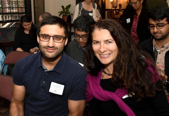 Nitin Kohli with Prof Deirdre Mulligan