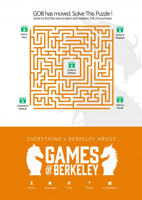 The team designed a pair of one-page posters that could be distributed around campus, with games or crossword puzzles to make them interactive.