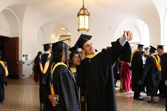 graduates taking a selfie