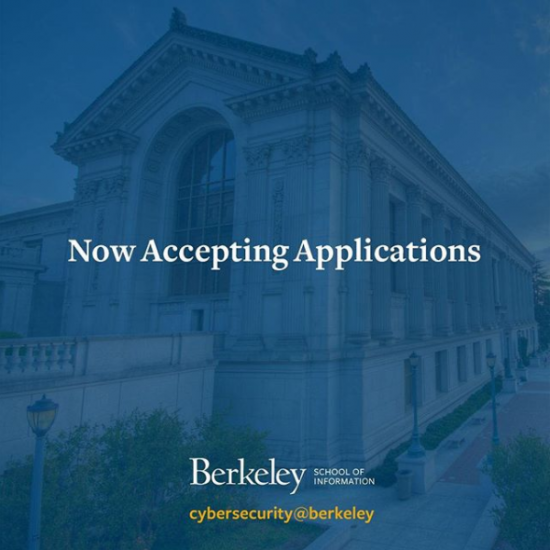 Accepting applications for master's of information and cybersecurity