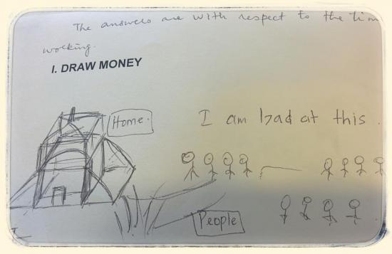 The team asked millennials to draw what money means to them.