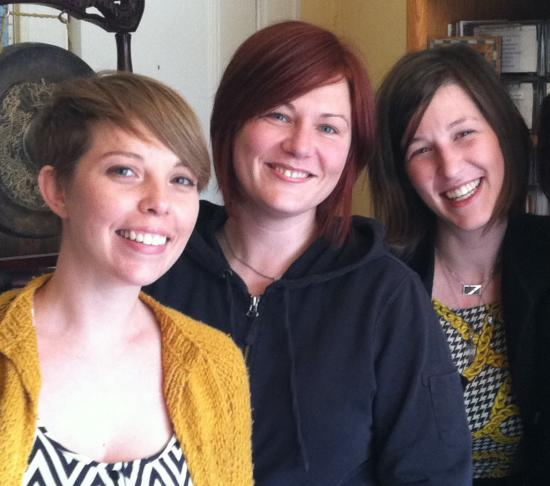 Chen Award winners Bailey Smith, Christen Penny, & Anne Wootton (Pop-Up Radio Archive)