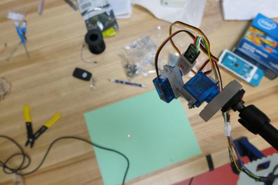 Devendorf's designed and built a computer-controlled laser guide