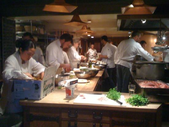<b>Retailers:</b> The kitchen at Chez Panisse, renowned for using local food