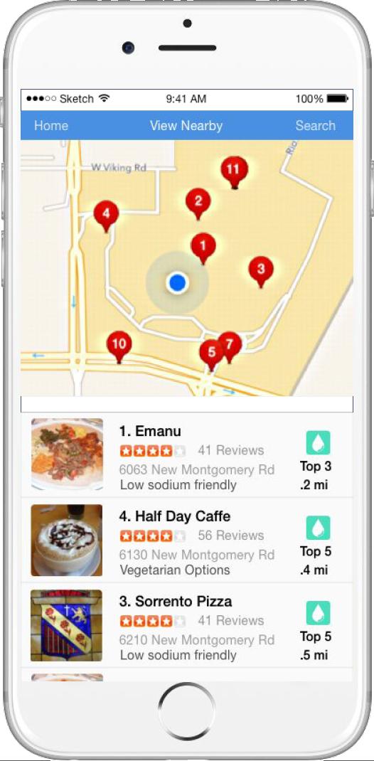 The app D! helps users locate restaurants with diabetic-friends menus.