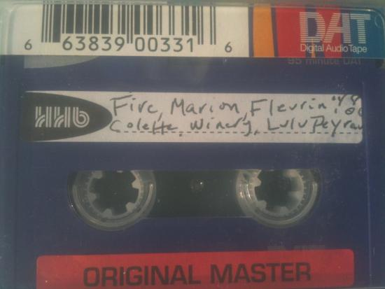 The Kitchen Sisters' current metadata system involves handwritten labels on old tapes.