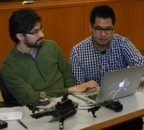 Students are developing open-source software modules to share with the drone-development community.