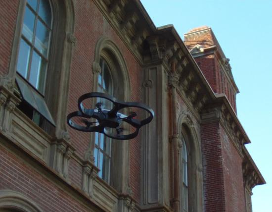 Drone Lab students are testing their drones in and around South Hall.