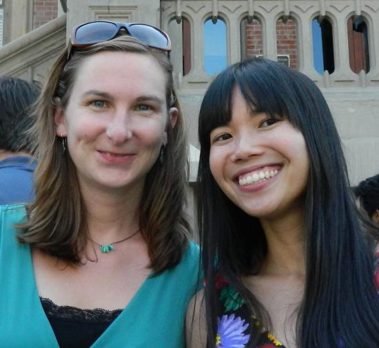 Chen Award winners Emily Barabas & Lizzy Ha (Apps for Kids & Parents). (Not pictured: Kristine Ng)