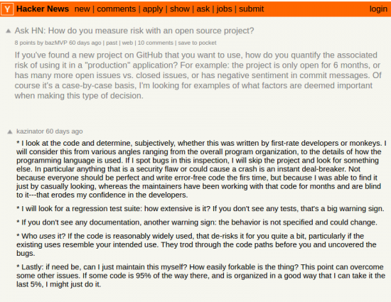 Getting feedback - asked the development community in HackerNews and interviewed senior leadership